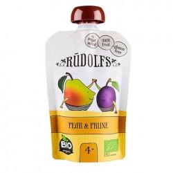 Παιδικός Πουρές Φρούτων Αχλάδι & Δαμάσκηνο 110g - Βιολογικός