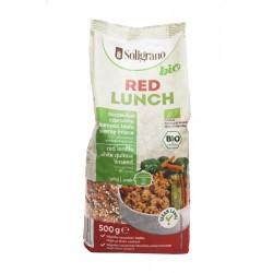 Κόκκινο Γεύμα Οσπρίων & Δημητριακών (Κόκκινες φακές, Κινόα  λευκή, & λιναρόσπορος)  - Βιολογικό - 500g