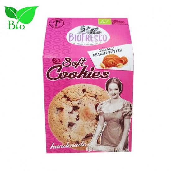 Soft Cookies με Κουβερτούρα & Φυστικοβούτυρο 4X40g - Βιολογικά
