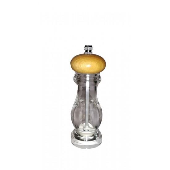 Ακρυλικός Στρογγυλός με Ξύλινο Στρογγυλό Καπάκι 15,25cm