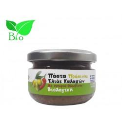 Πάστα Πράσινης Ελιάς Καλαμών Με Πιπεριά Φλωρίνης 100g - Βιολογική