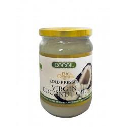 Coconut Extra Virgin Raw Oil, σε γυάλινο βάζο, Cocoil