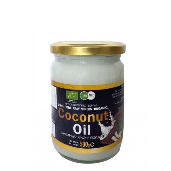 Coconut Raw Oil σε γυάλινο βάζο, Health Trade