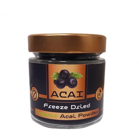 Acai Berries Powder 85g (Freeze Dried) - Βιολογικό SUPERFOODS - ΥΠΕΡΤΡΟΦΕΣ