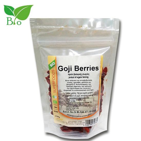 Goji Berries 100gr Βιολογικά SUPERFOODS