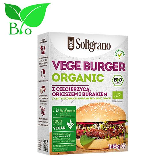 Burger vegan Ρεβίθια, Παντζάρι &  αλεύρι ντινκελ 140g Βιολογικό