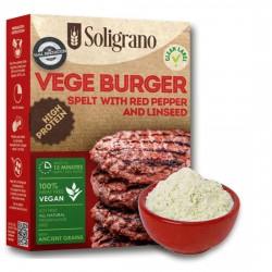 Burger vegan Πάπρικα και λιναρόσπορο