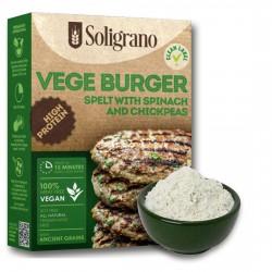 Burger vegan Σπανάκι & Ρεβύθια