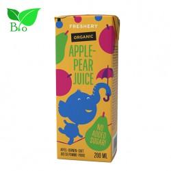 Χυμός Παιδικός Freshery με Μήλο & Αχλάδι 200ml - Βιολογικός